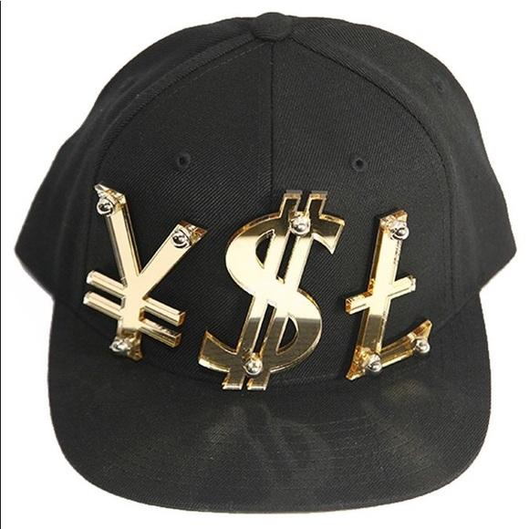 c8ff3984a0d Accessories | Ysl Yen Dollar Sign Pound Snapback Cap | Poshmark
